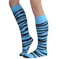 Light Blue Zebra Pattern Socks