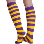 Purple and gold socks