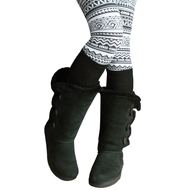Black knee high socks for boots