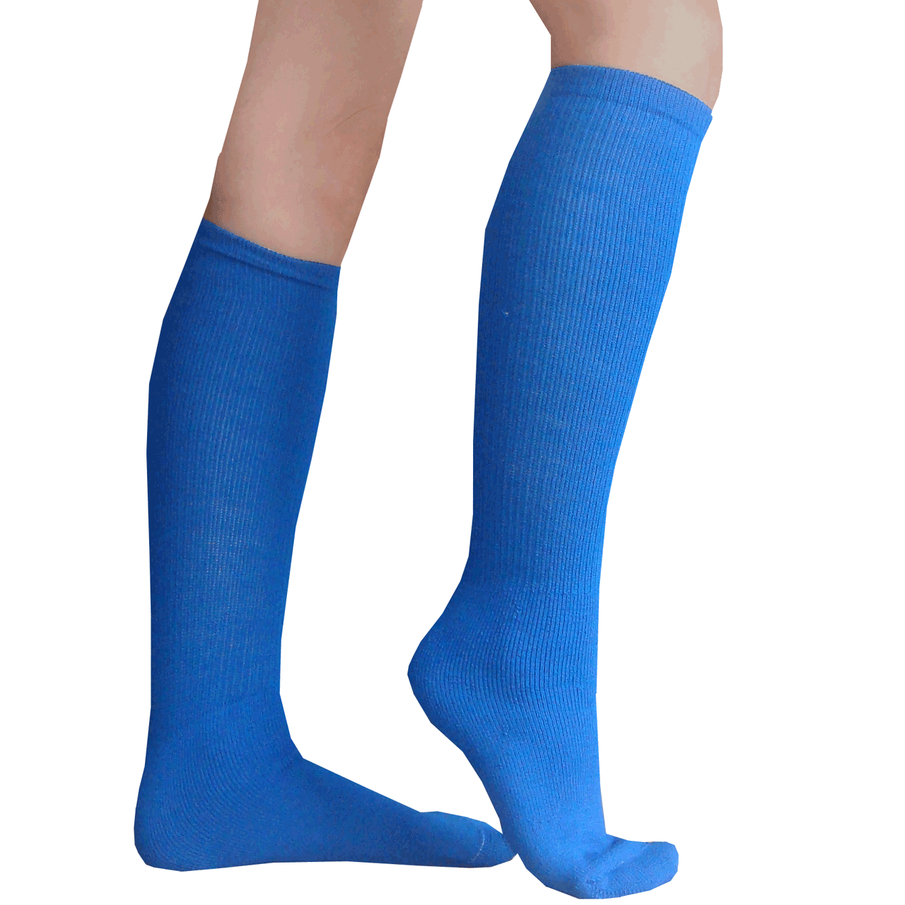 Blue Socks With Black Shoes