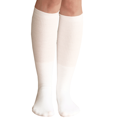 Gone are the days of boring old white socks! Each pair of white knee-highs is like a blank canvas for fantastic prints and patterns. Keep the decoration minimal, and you .