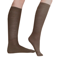 brown knee socks