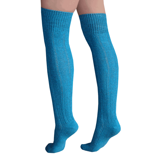 teal thigh high socks