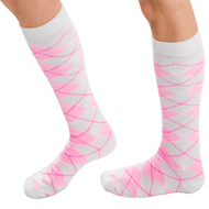 Light Pink Argyle Knee Highs