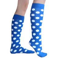 Royal Blue polka dot knee socks