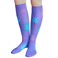 purple weed socks