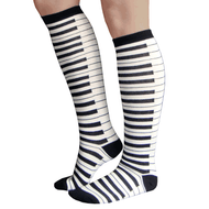 black and white piano music knee highs