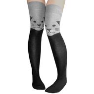 Gray Cat Thigh Highs