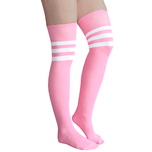 baby pink thigh high socks