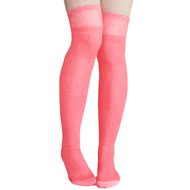 coral colored thigh highs