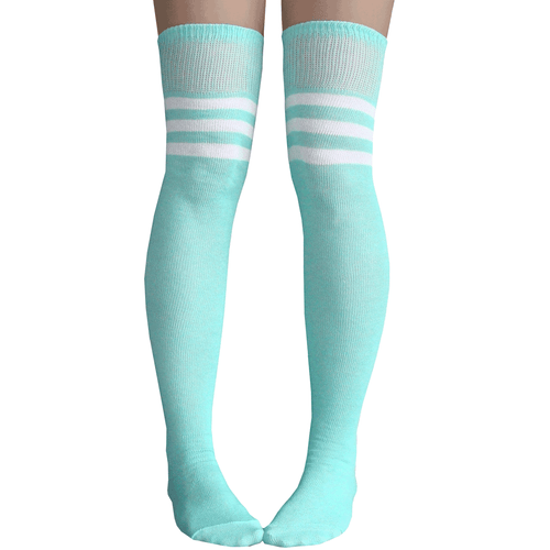 mint thigh high socks