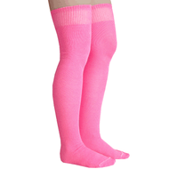 neon pink thigh highs