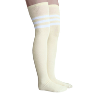dandelion thigh highs with 3 white stripes
