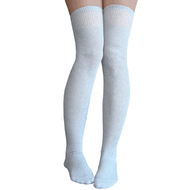 gray thigh high socks made in usa