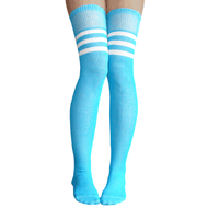 neon blue over the knee socks