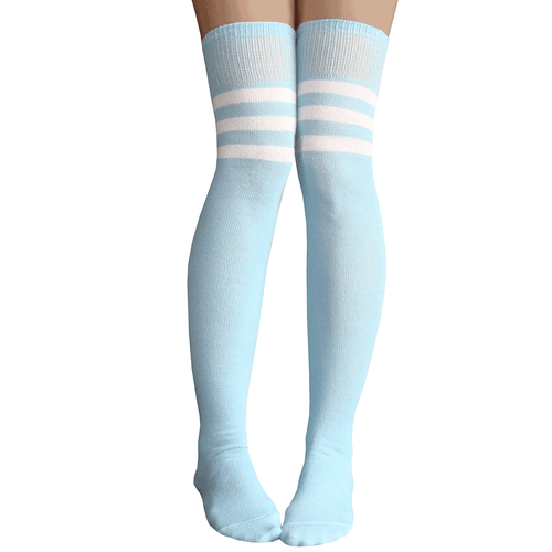baby blue thigh highs