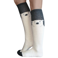 polar bear knee highs