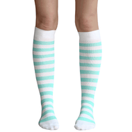 Mint Green Striped Knee Socks