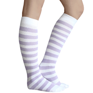 Lilac Striped Socks