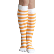 tangerine striped socks