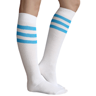 Electric Blue Striped Tube Socks