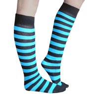 Electric Blue Striped Socks