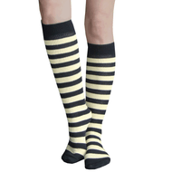 Black and Dandelion Striped Socks