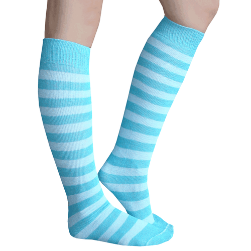 Blue Striped Tube Socks
