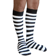 black and white striped mens socks