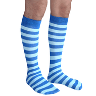 royal blue and light blue striped mens socks