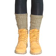 army and green socks in boots
