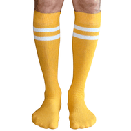 gold mens tube socks