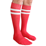 mens red/white tube socks