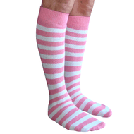 pink and white striped mens socks