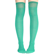 green thigh highs