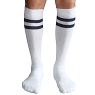 mens white and navy tube socks