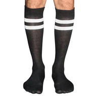 mens black/white tube socks