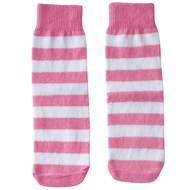 pink/white striped kids socks