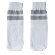 white and gray kids socks