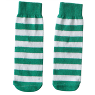 green and white striped kids socks