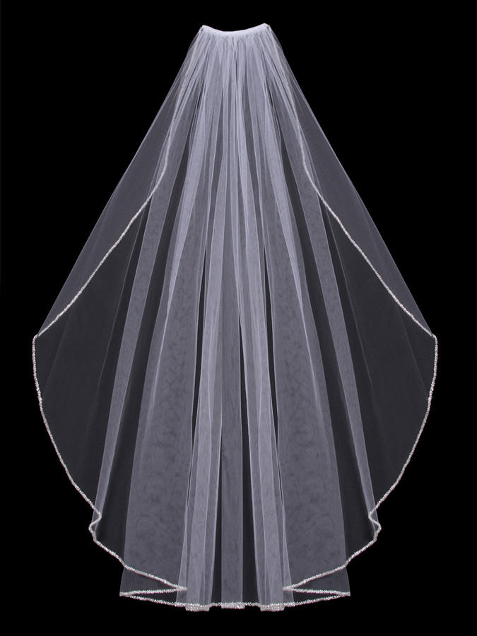 bridal veil catholic singles Vweil elbow length single tier lace applique mantilla veils catholic bridal wedding veils handmade-catholic chapel veil rose lace with scalloped trim in.