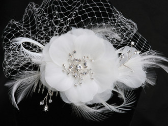 Russian Tulle Cage Veil