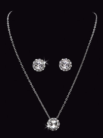 Bridal Rhinestone Necklace Set