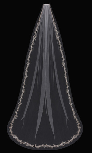 Cathedral Bridal Veil | V1797C