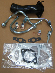 EVO 9 Turbocharger Fitting Kit (With Black Compressor Outlet  Pipe)