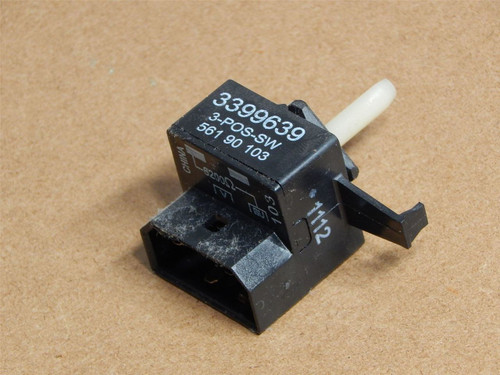 Whirlpool Dryer WED4800XQ0 Cycle Selector Switch 3399639