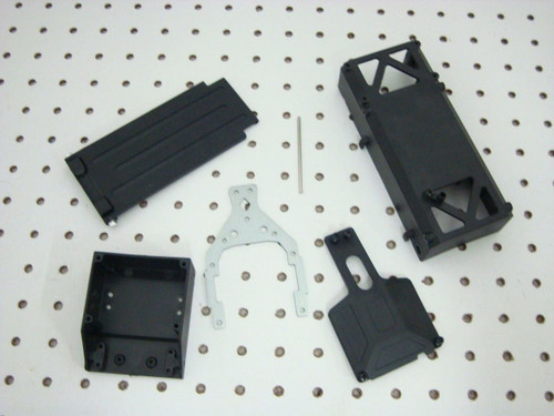 HOBBY PEOPLE HP SAND STORM BATTERY BOX & SERVO MOUNT SET 143427 143444 143421