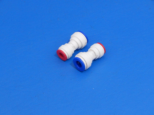 """Refrigerator Water Line 5/16"""" to 1/4"""" Push in Fitting Reducer Adapter (2)"""