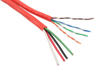 1 Category 5e with 1 16 AWG 4 Conductor Unshielded Composite Cable - Orange, 1000FT (244164C)
