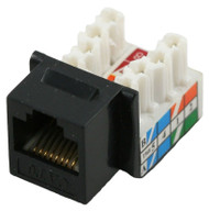 Cat 6 RJ45 110 Type 90 Keystone - Black (TA-1076BK)